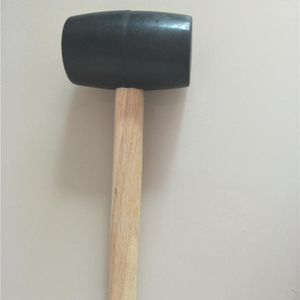 Rubber Mallet Hammer with wooden handle for Garden, Patio, Chisel rubber dead blow hammer