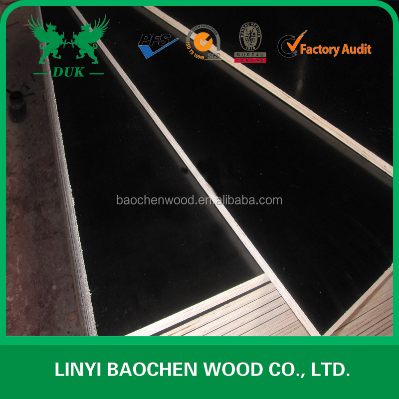Low price 18mm Waterproof Marine Laminated Plywood, Construction WBP Phenolic Glue BlackDynea Brown Film