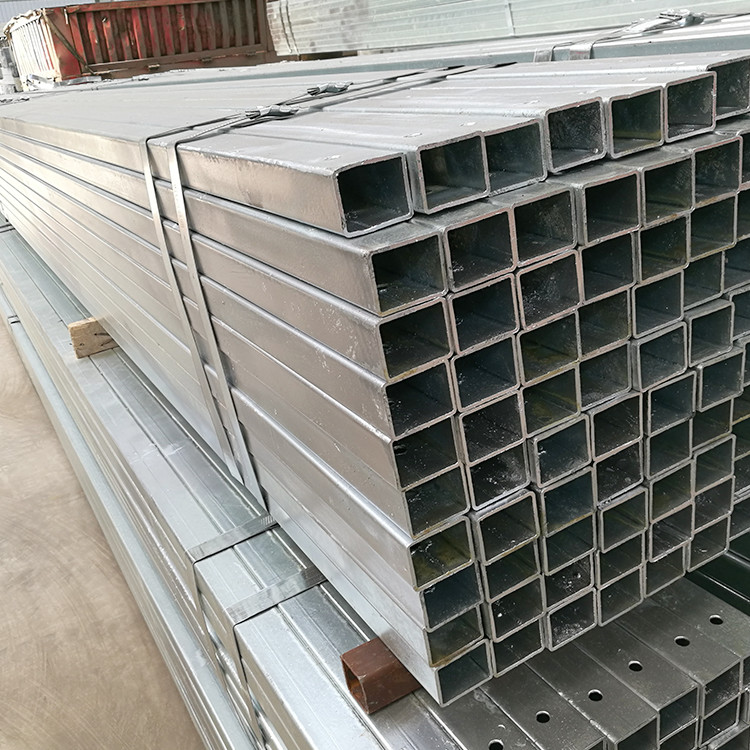 Low price 40x40 zinc galvanized square hollow section steel pipe with holes