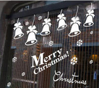 Wall Decals Merry Christmas 2017Christmas Decoration Christmas Bells Decal Vinyl Sticker Bedroom Home Decor Art
