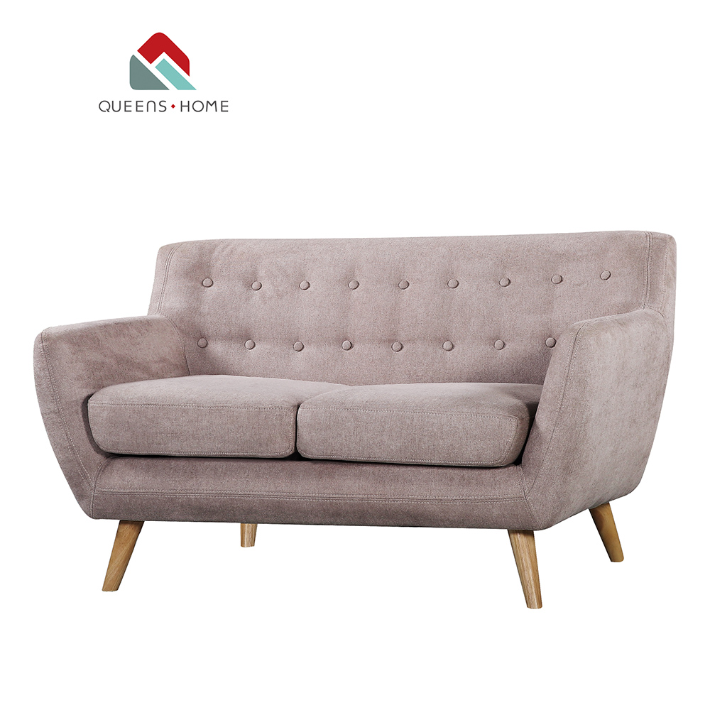 Queenshome Accent Loveseat Decor Retro Style Contemporary Sofa Set Design Rooms To Go Living Room Sets Fabric Grey 2 Seater Clic