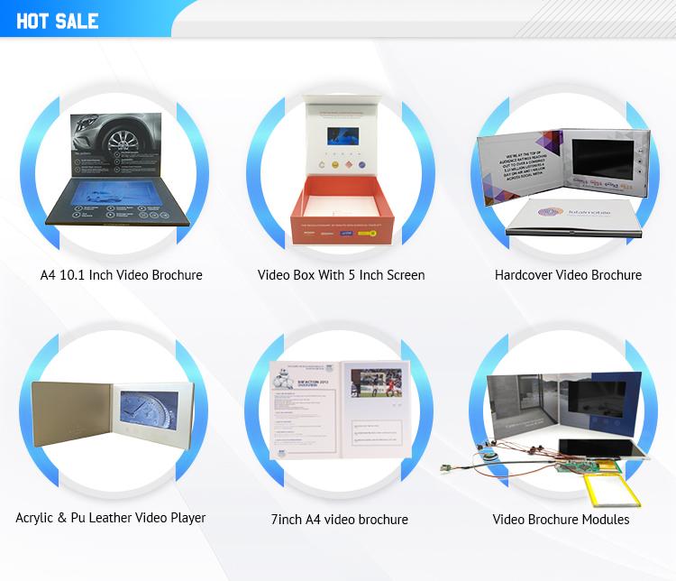 Benutzerdefiniertes 10,1-Zoll-Video-Grußkartenmodul / Videobroschüre mit LCD-Bildschirm für die Einladung