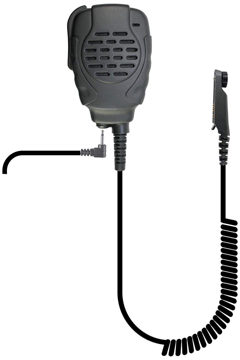 PRYME SPM-2203 Trooper II Waterproof & Noise Canceling Trooper II Spm-2200 Series - Waterproof Remote Speaker Microphone, Black