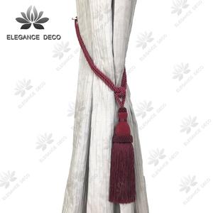Elegance Deco window curtain textile tieback tassel fringe