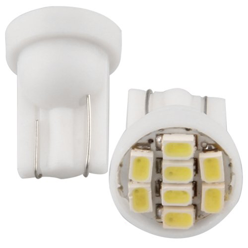 Hot 10 T10 W5W 168 194 Bright White 8 SMD LED Side Wedge Light Bulb Lamp