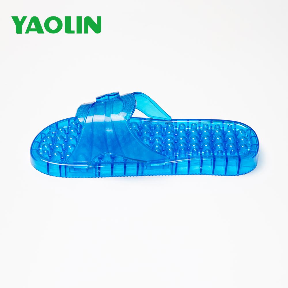 Japan Market Best Selling Hotel Massager Slippers Bathable Leaking Massage Slide Sandals