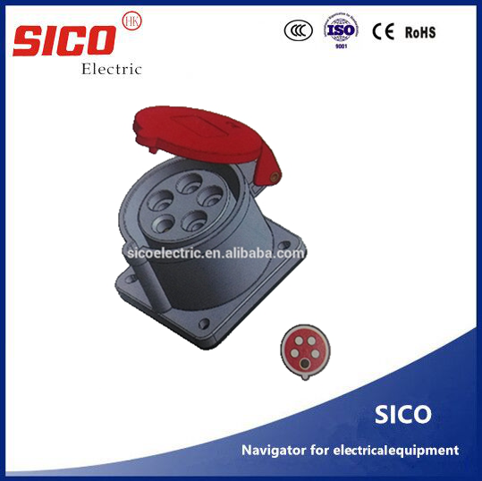 Electric plastic Material IP44 Electrical Industrial Plug & Socket