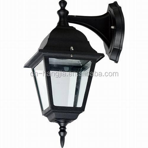 Wall Mount Lantern Light Outdoor Aluminum Motion Sensing Lantern ...