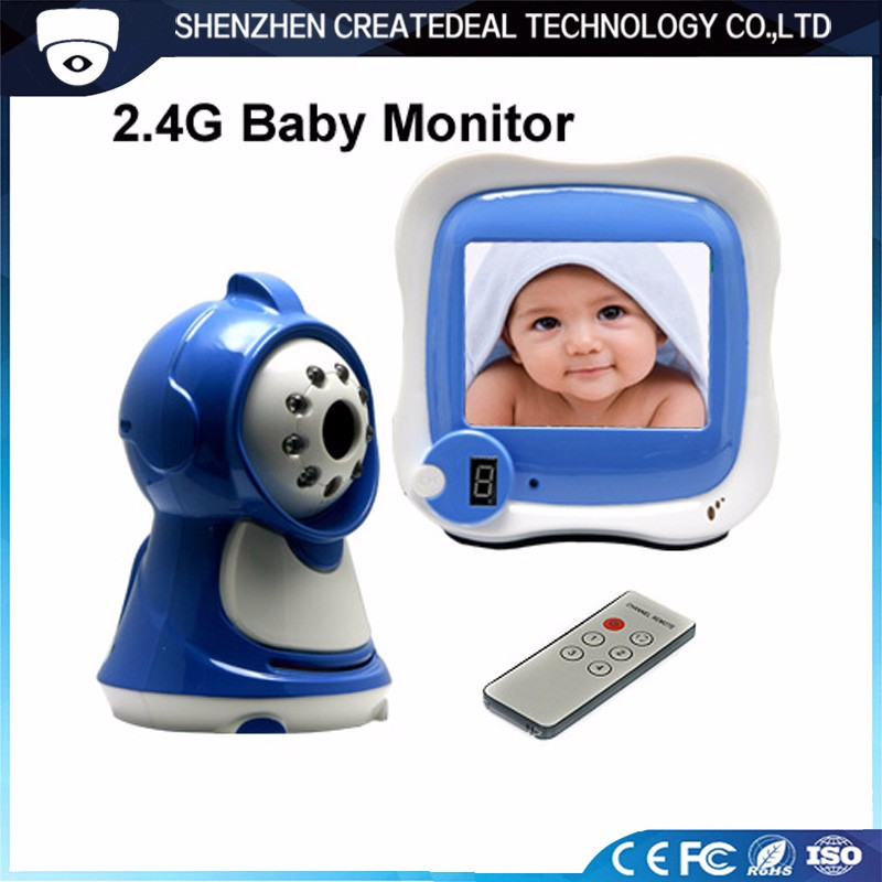"2.4GHz 3.5"" TFT LCD Wireless Color Digital Baby Camera Monitor for Monitor Baby-880B"
