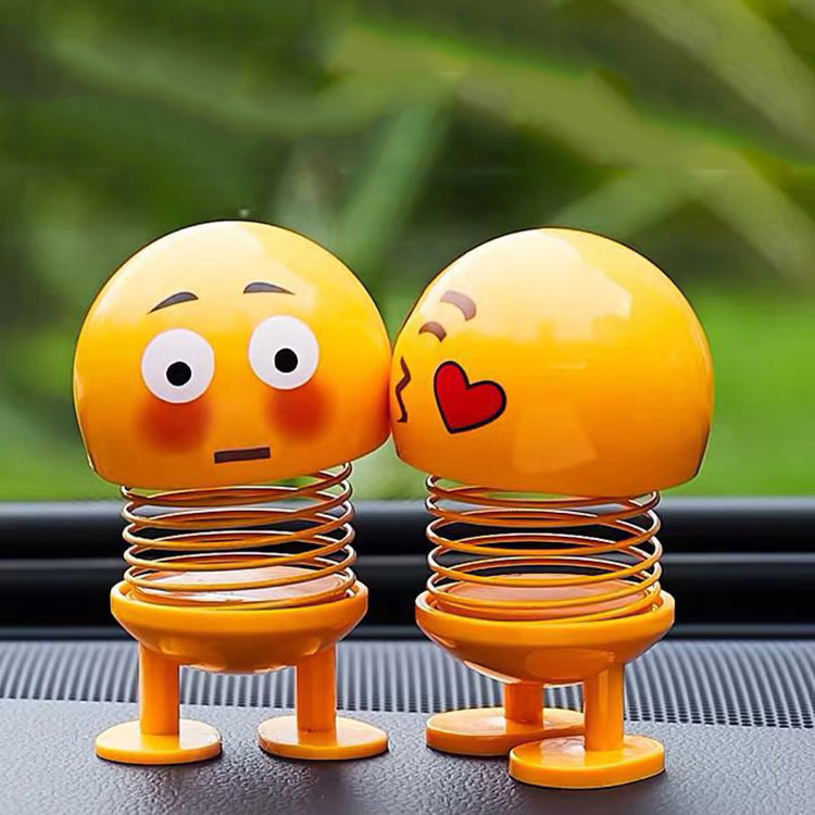 Creative Shaking Head <strong>Dolls</strong> Cute Emoji Springs Dancing Toys Action Figures Bounce Toys for Car Dashboard Home