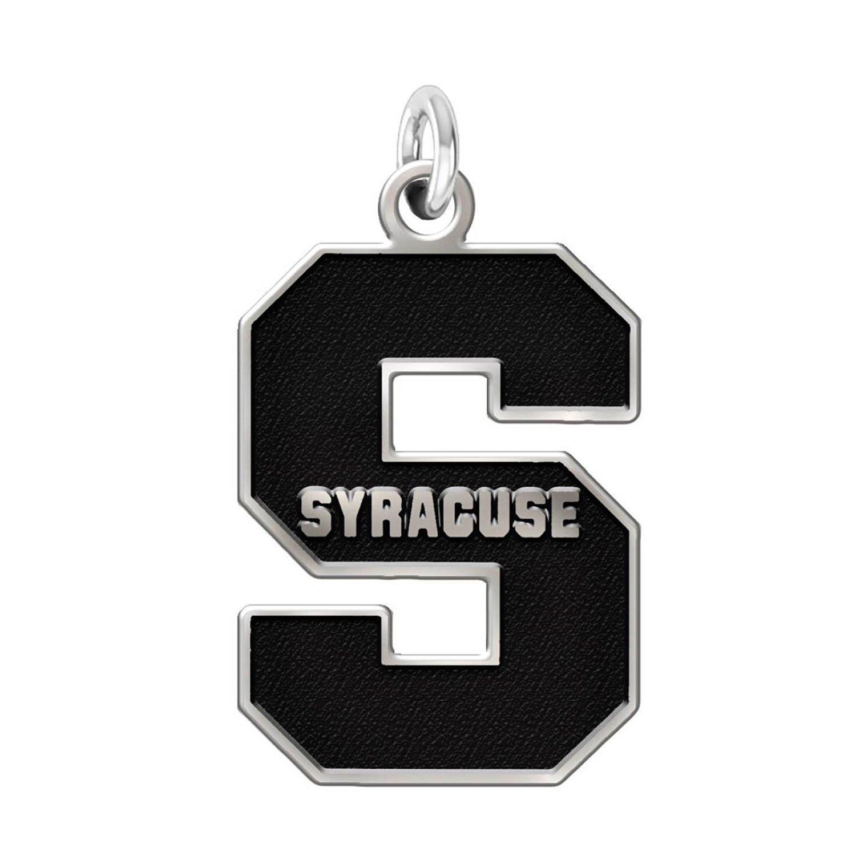 "Syracuse Orange 1/2"" Sterling Silver Cut Out Logo Charm"