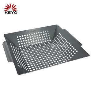 BSK9 promotional bbq tool Accessories Non Stick Skillet Grill Tools Easily Clean Vegetable BBQ Barbeque Basket