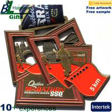 Custom Marathon 5K Metal Print Medal for Award Souvenir