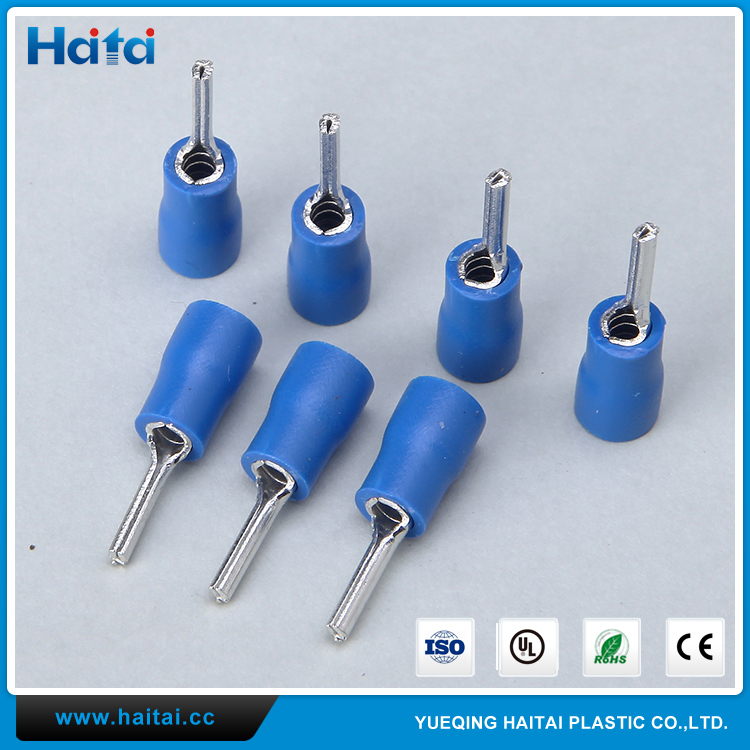 Haitai Cheap Copper Material Pre-Insulating PTV Wire Crimping Terminal Lugs Pin Type
