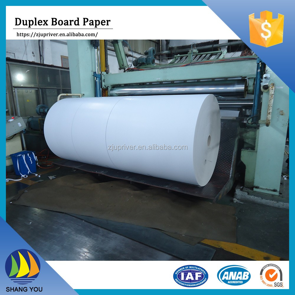 Wholesale china 300g duplex paper board grey back