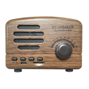Top-Rated Product ABS+silicone Classic Retro Portable Bluetooth 4.1 Version Speaker FM Radio Pocket Design, Easy to Carry
