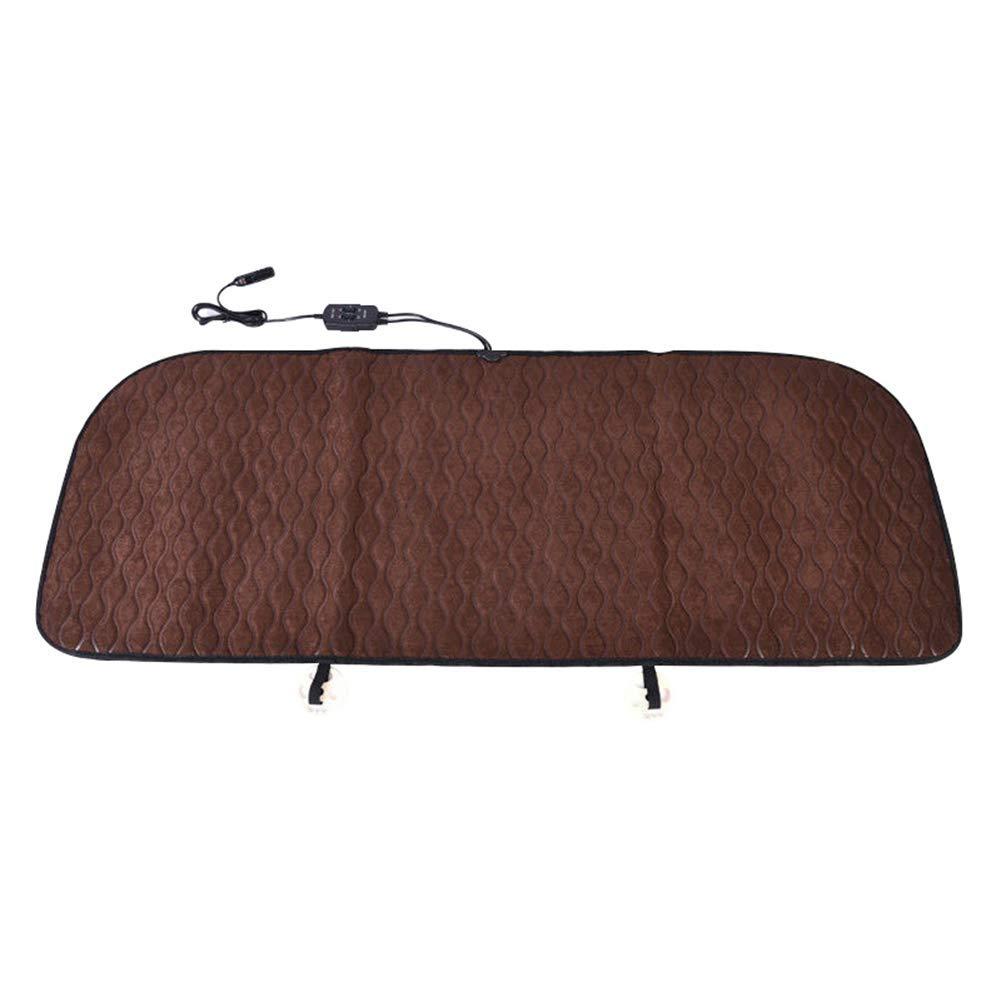Braceus Car Heated Seat Cushion, Car Vehicle Rear Back Seat 12V Winter Soft Heating Cushion Cover Pad Brown