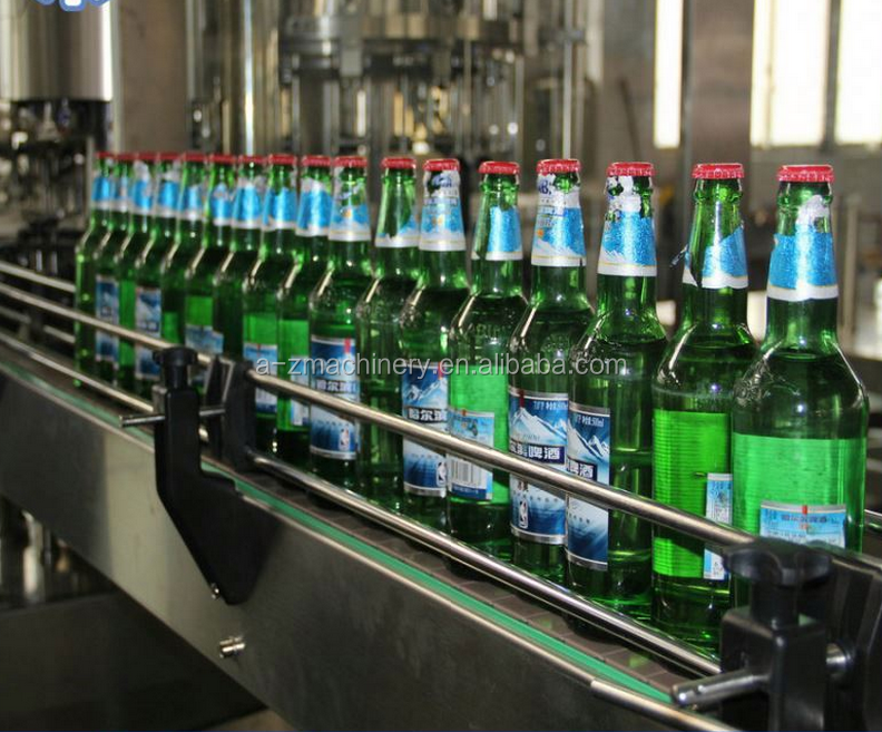Automatic Glass Bottle for Alcohol wine beer spring water filling machine plant from A-Z Machinery