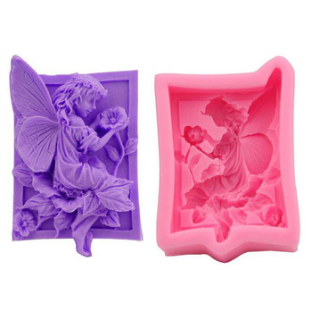 DIY handmade soap mold angel candle molds making silicon