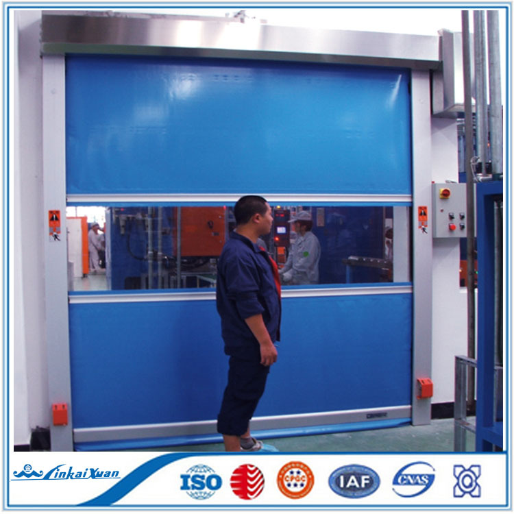 Big warehouse used Fabric Roller Rapid Roll Door with Observing Window