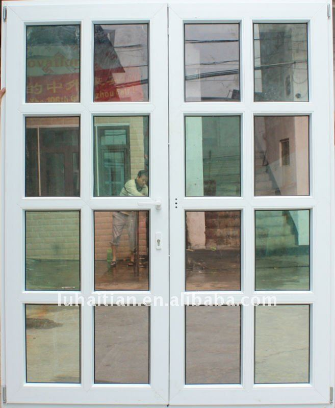 Panel de vidrio pvc puerta abatible puertas exteriores - Puertas de exterior de pvc ...