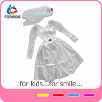 Exquisite cosplay kids halloween costumes snow white costumes for kids,kid's party wedding dress