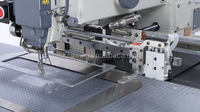 Automatic Zig-zag Label pattern sewing Machine