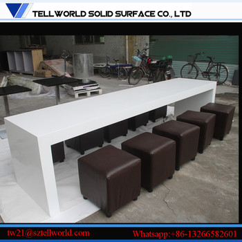 Custom Made Kfc Table Modern Design Corian Solid Surface Countertop (white)  - Buy Walmart Dining Table Chairs,Kfc Table Modern,Modern Design Solid ...