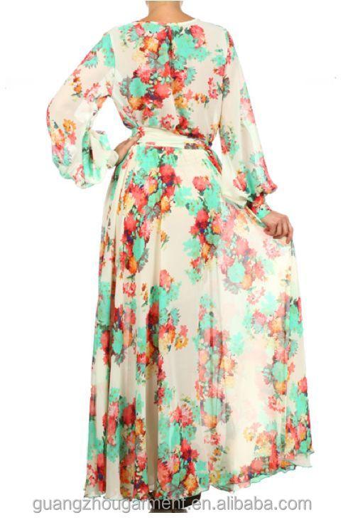 Full Sweep Chiffon Maxi Dress