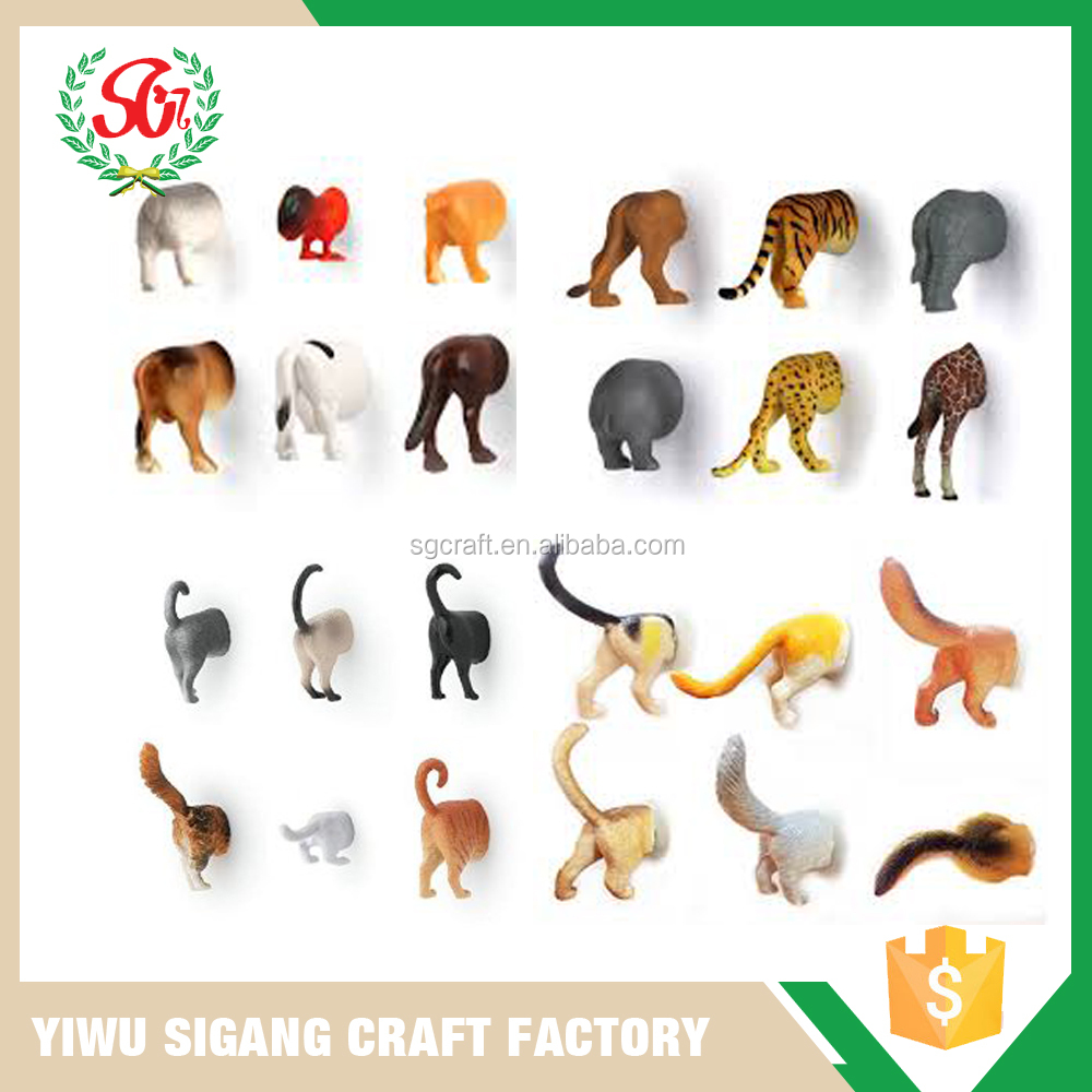 New and Fashion Designs 3D Half Animal Fridge Magnet Set For Whole Sale