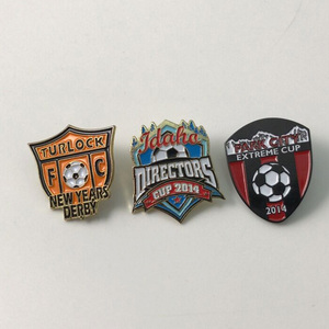 Factory price football lapel pin badge/soccer football shape metal lapel pin/football match enamel lapel pin