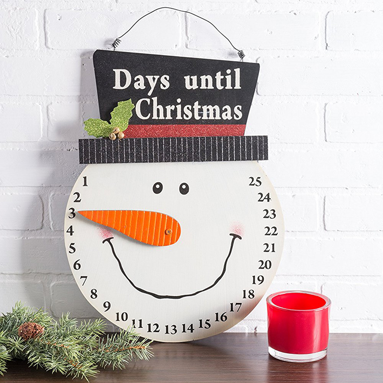 Wall Door Decoration Hanging Snowman Advent Calendar for Holiday