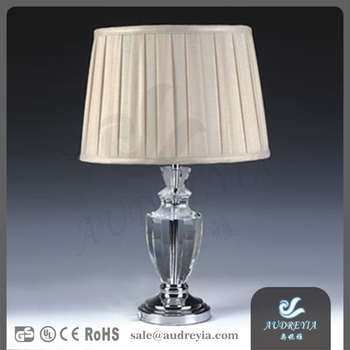 modern home goods crystal table lamp with romantic fabric shade hotel. Black Bedroom Furniture Sets. Home Design Ideas