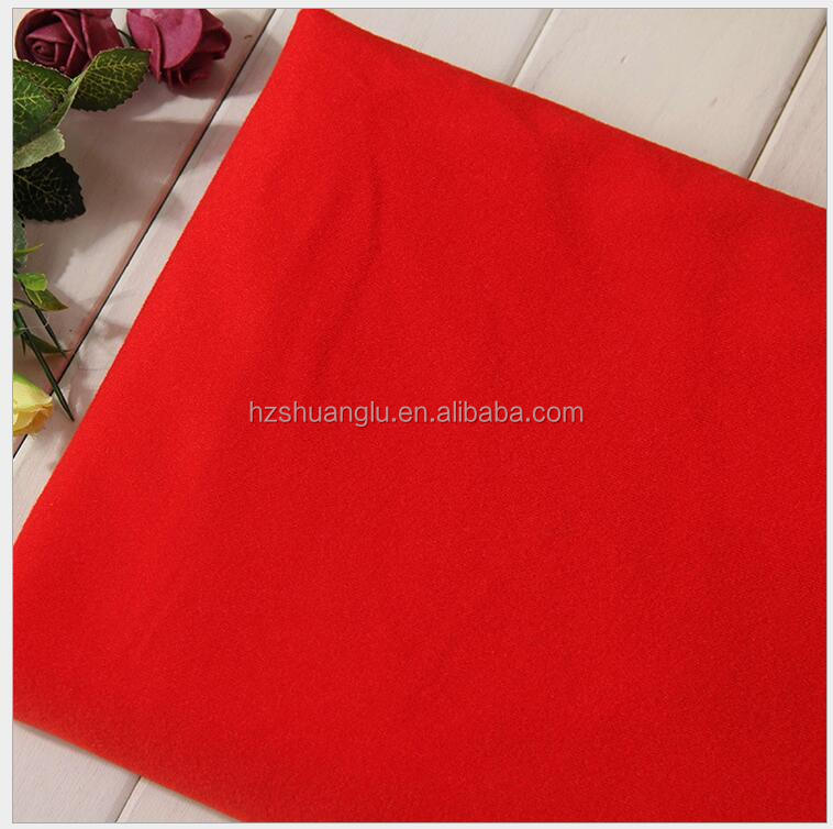 100 polyester tricot brushed loop velvet fabric from China supplier