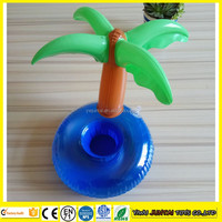 Hot sale cheap inflatable palm tree float cup holder for sale