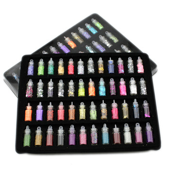 Cheap 48 Bottleslot Diy Nail Art Kit Random Nail Art Pearl Sequin