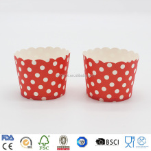Hot Sale Eco-friendly Cupcake Round Polka Dot Paper Baking Cups