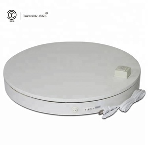 Electric white advertising luxury turntable CE/FC certificates 3D rotating display for christmas stand