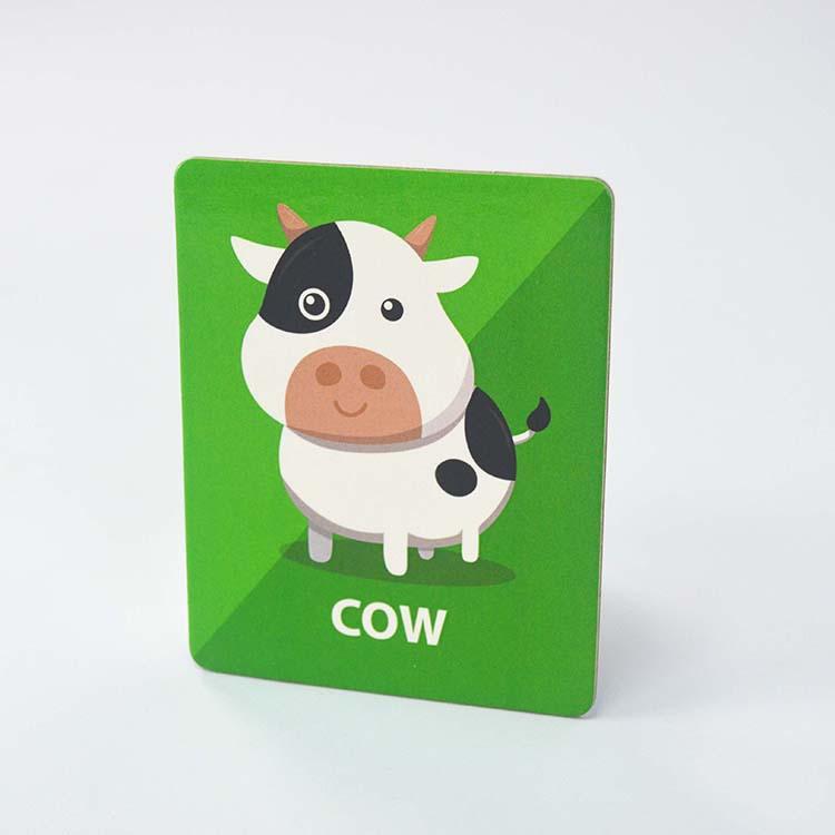 맞춤 인쇄 카드 아기 동물 표준 교육 학습 플래시 카드