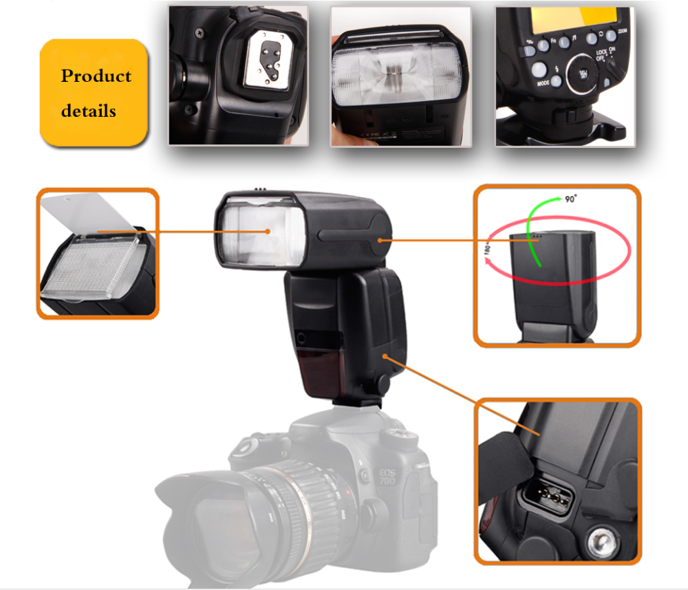 Hot Product LED Flash Speedlite ITB-282C Small Portable Flashing LED Light for Canon EOS 5D Mark III Camera Flash