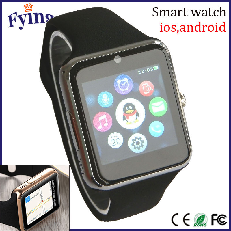 MTK2502C Bluetooth smart watch for iphone 6 camera single <strong>sim</strong>/smart quartz watch