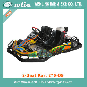 Fast delivery mini dune buggy for kids 90cc racing go kart sx-g1103 cheap karts sale 9HP Double-seat (2-Seat 270-D9)
