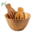 Eco-friendly Bamboo Fruit and Vegetable Salad Bowl  with Salad Hand