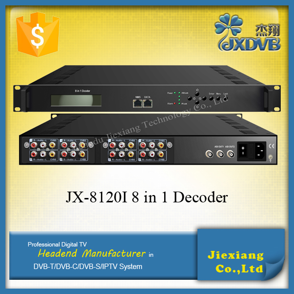 Cable TV Strong Decoder/Real-time ASI to AV IPTV Encoder Decoder