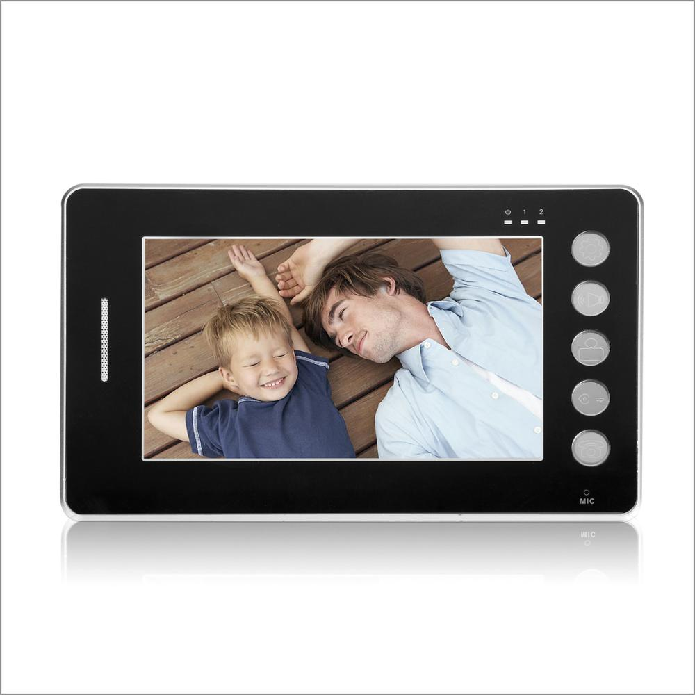 "700 tv line 2.4 G 7"" LCD Video Door Phone Door Bell Intercom Touch Key System Video Camera"