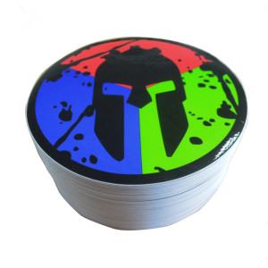 Seasonal Purchasing Waterproof Private Printing Black Round Die Cut Vinyl Sticker Labels