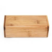 Wooden rectangular sunglasses flip bamboo box, can custom
