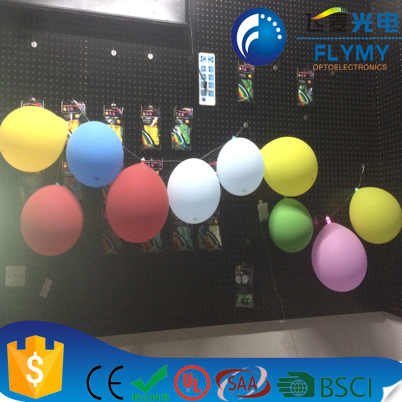 24 Mixed Color Flashing Party Christmas inflatable wholesale light LED Balloon with Ribbon for Birthday Wedding Festival Party