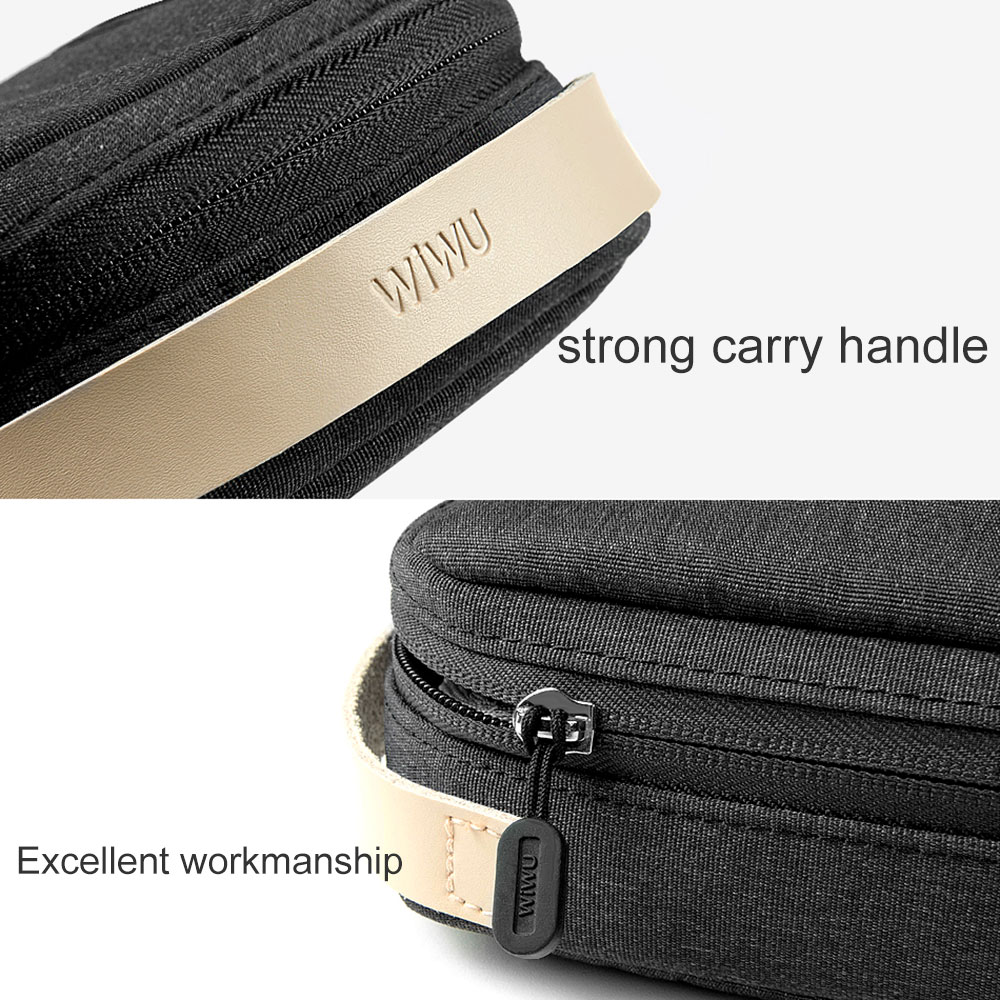 WIWU Top Selling Portable Travel Electronics Gadget Organizer Pouch Carry Case Accessories Travel Cable Orgainser Storage Bag