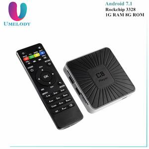 Android 7 1 Smart TV Box RK3328 Quad Core Streaming Media Player 1GB EMMC  RAM 8GB ROM 2 4G Wifi 4K Mini PC C8 Set Top Box USB3 0